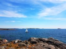 Ocean view. By the sea Royalty Free Stock Image