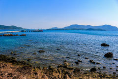 Ocean View. Sea in the Chonburi province of Thailand royalty free stock images