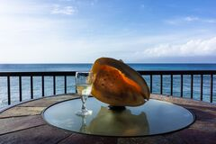 Free Ocean View Shell, Wine Glass Stock Image - 170772121
