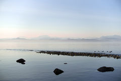 Ocean view. View of the ocean from South-East coast of Quadra Island,BC,Canada Stock Photos