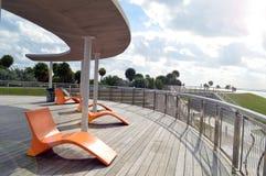 Ocean view, South Pointe Park, South Beach, Florida stock photos