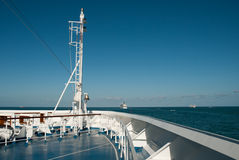 Ocean view from the stern Stock Photos
