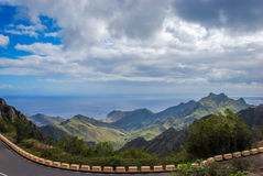 Ocean view in Tenerife. Stunning mountain view to the ocean and sky in Tenerife Stock Photography