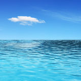 Ocean view. In sunny summer day Royalty Free Stock Photography