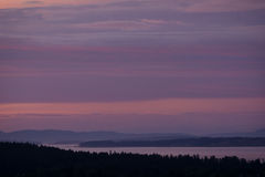 Ocean View at Sunset in Victoria, British Columbia, Canada. Sunset in Victoria, British Columbia, Canada Royalty Free Stock Images