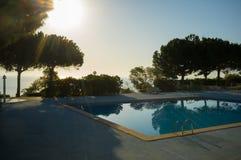 Ocean view swimming pool Royalty Free Stock Images