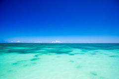 Ocean view. Tropical ocean view of Dominican Republic royalty free stock photography
