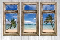 Ocean View From a Vintage Cottage Royalty Free Stock Image