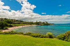 Ocean view in West Maui Kaanapali beach resort area. Royalty Free Stock Images