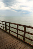 Ocean view from a wooden jetty Stock Image
