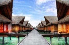 Ocean villas. In HDR - Maldives Royalty Free Stock Photos