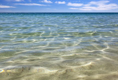 Ocean Vista. Shimmering aquamarine sea, with blue sky Stock Image