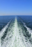 Ocean wake trail stock images