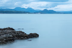 Ocean in Wales. Late evening view of the ocean from Hafan Y Mor beach near Pwllheli Royalty Free Stock Images