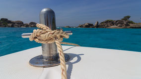 In the ocean. Walk to the islands on a boat in Thailand Royalty Free Stock Photos
