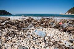 Ocean Waste In Beach Shore Royalty Free Stock Image