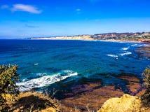 San Diego California beach and ocean. Ocean water California sandiego Royalty Free Stock Photos
