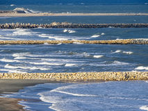 Ocean water dam Royalty Free Stock Photography