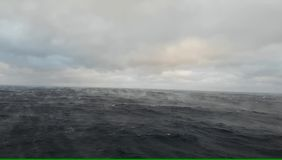 Ocean water evaporates rapidly when cold dry air blows upon it - rare phenomenon. Amazing rare phenomenon of rapidly evaporating sea stock footage