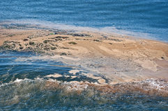 Ocean Water Pollution in Wake Stock Images