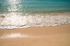 Ocean water at sand beach Royalty Free Stock Images