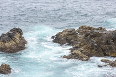 Ocean Water Splash At Big Sur. California. Ocean Pacific Water Splash At Big Sur. California Royalty Free Stock Photos