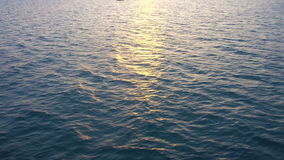 Ocean Water at Sunset stock footage
