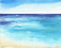 Free Ocean Watercolor Hand Painting Illustration. Royalty Free Stock Photos - 105388818