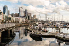 Ocean waterfront from Antony Pier 66 royalty free stock image