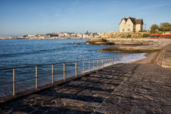 Ocean Waterfront in Cascais Stock Image