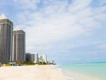 Ocean waterfront of Miami Beach, Florida. Royalty Free Stock Photo