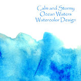 Ocean waters blue watercolor Stock Photos