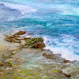 ocean waters and coastal stones Royalty Free Stock Photography