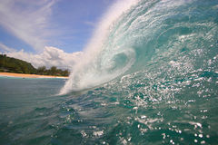 Ocean Wave 1. Beautiful wave as seen from the water Royalty Free Stock Image