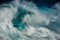 Ocean wave. In the storm Royalty Free Stock Photos