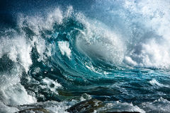 Ocean wave. In the storm stock images