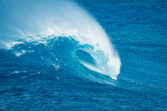 Ocean Wave. Beautiful Blue Ocean Wave, Amazing Surf Royalty Free Stock Photos