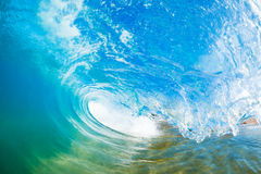 Ocean Wave. In nice shades of blues Stock Photos