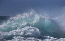 Ocean wave. In stormy weather Royalty Free Stock Images