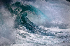 Ocean wave. In stormy weather Royalty Free Stock Image