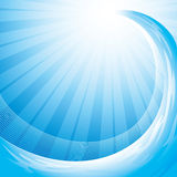 Ocean wave background. Background with ocean wave and shining sun Stock Images