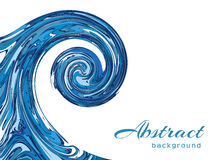 Ocean wave background. Ocean wave on white background, blue water swirl in marble style Stock Photography