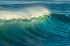 Ocean Wave Barrel. Ocean wave crashing with long exposure to show motion within the wave Royalty Free Stock Image