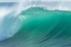 Ocean Wave Blue Closeup Stock Photo