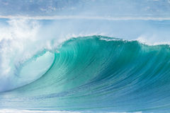 Ocean Wave Blue Color Stock Image