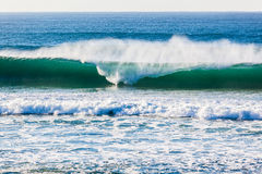 Ocean Wave Breaking Shape Spray Royalty Free Stock Image