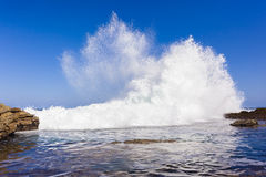 Ocean Wave Exploding Royalty Free Stock Photos