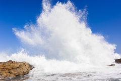 Ocean Wave Exploding Stock Photography