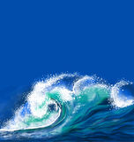 Ocean wave. Fresh, colorful illustration Stock Images