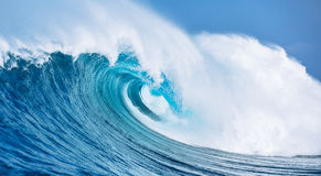 Ocean Wave giant splashing water Royalty Free Stock Image